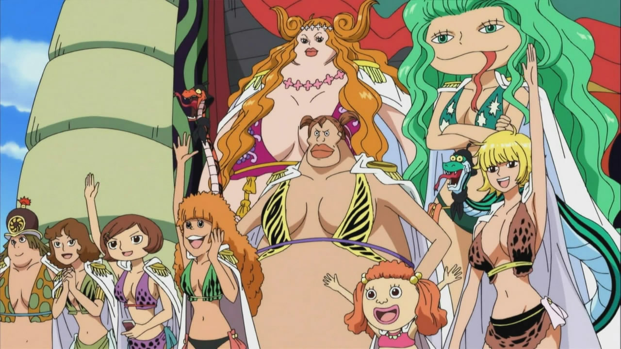 Gorgon Sisters One Piece A  Hmm  those with a funny