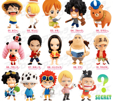 """Chibi """"Childhood"""" One Piece Characters' Limited Edition Set"""