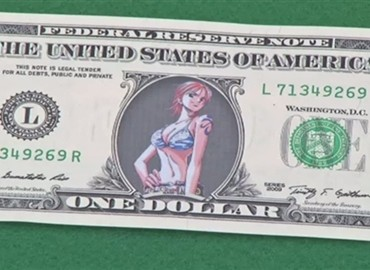Man Arrested for Selling Copyright Infringing One Piece Dollar Bills