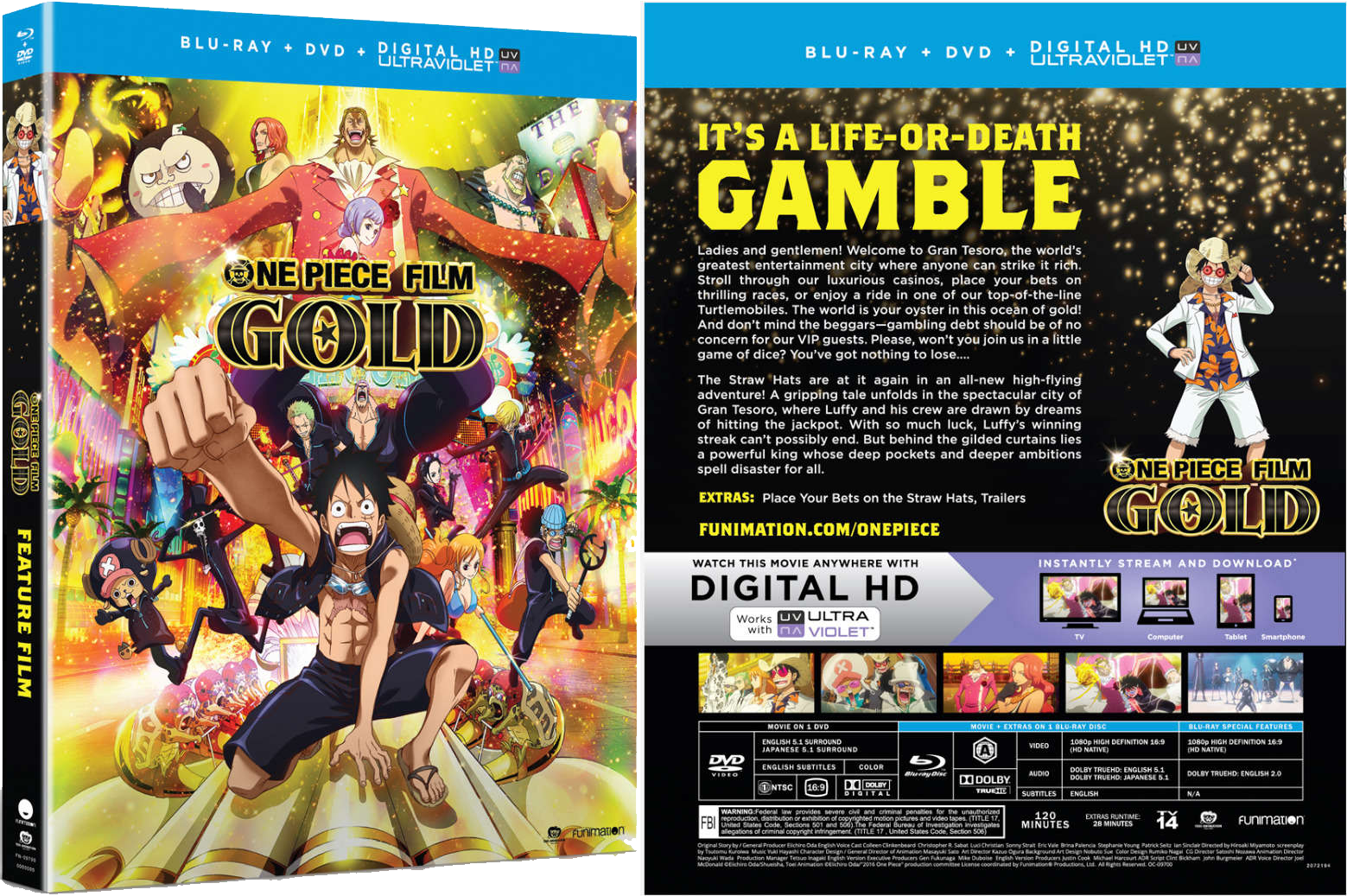 Funimations Home Video Release For One Piece Film Gold
